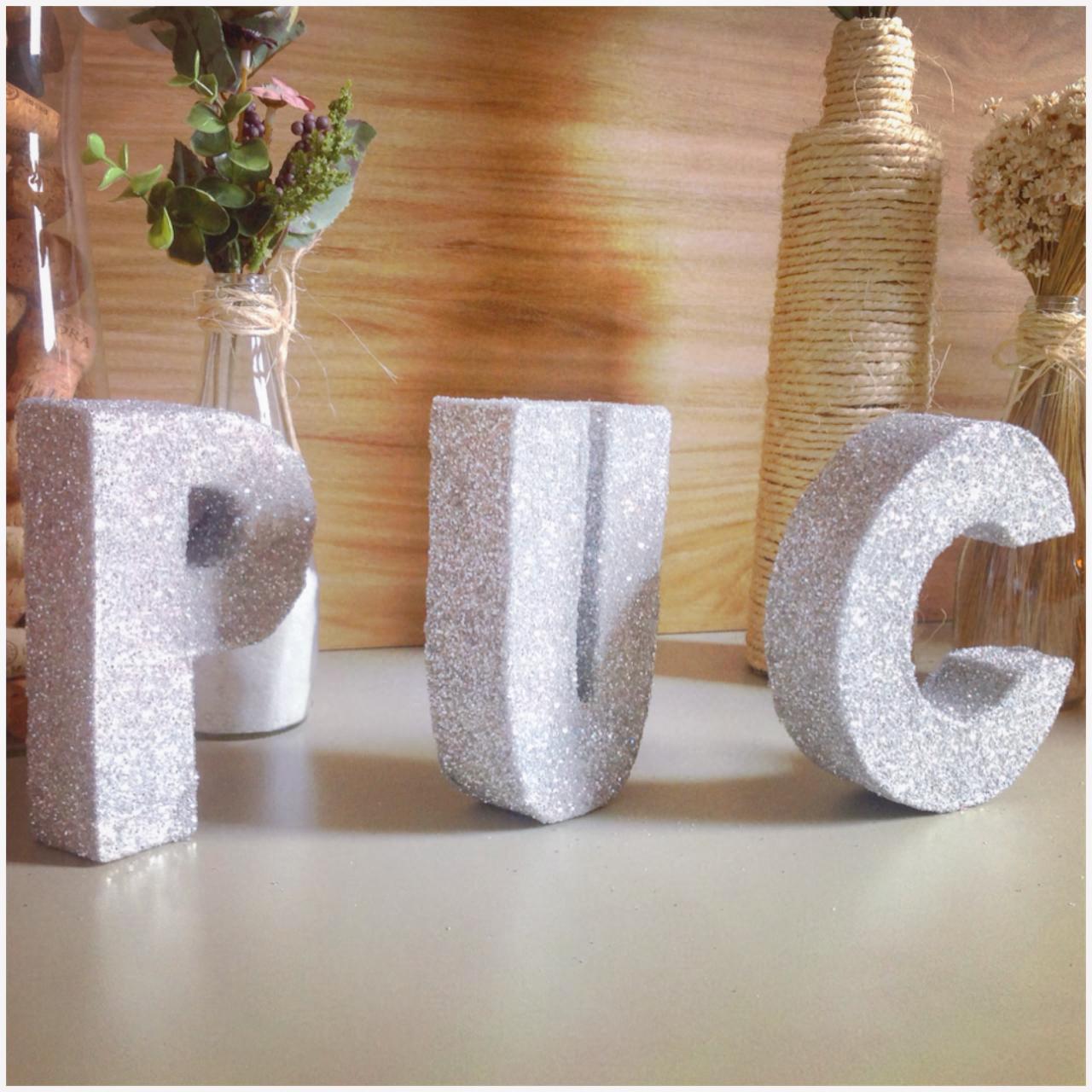 Como fazer letras decorativas de glitter eu dou a dica - Como hacer letras decorativas ...