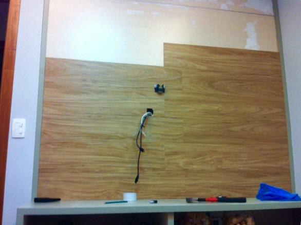 Painel tv - Colocar piso vinilico ...