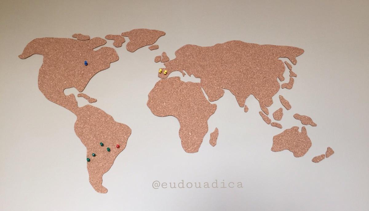 DIY: Mapa Mundi de Cortiça